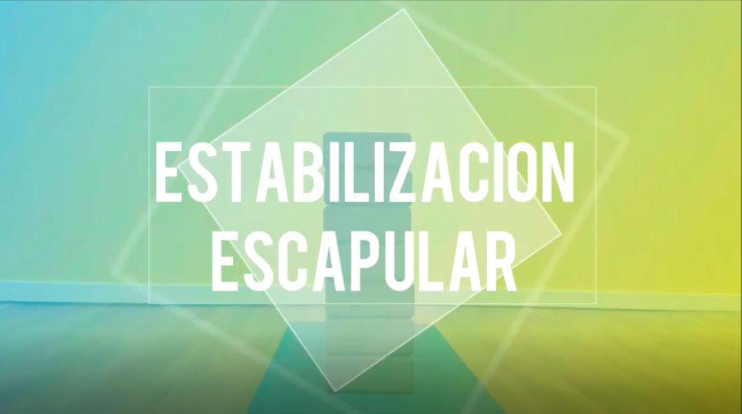¿Qué es la estabilización escapular?