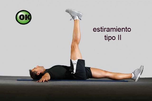 Estiramiento para mejorar la flexibilidad tipo II con contracción